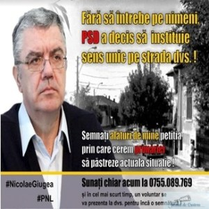 Nicolae Giugea , deputat PNL Dolj : Fara sa intrebe pe nimeni PSD a decis sa instituie sens unic pe strada dvs 1