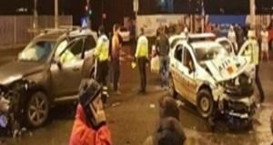 Accident Grav:O masină a intrat in 3 politisti si un jandarm 18