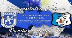 Fotbal : Universitatea Craiova are programat maine un amical cu Pandurii Targu Jiu 2