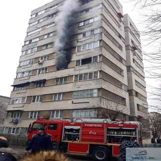 Un apartament a luat foc in Craiovita Noua 1