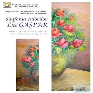 Picturi, colaje si pasteluri, in foaierul Teatrului Colibri 1