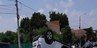 Accident spectaculos pe strada Caracal