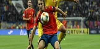 Fotbal : Romania a fost invinsa cu 2-1 de Spania si a coborat pe locul patru in clasamentul grupei F
