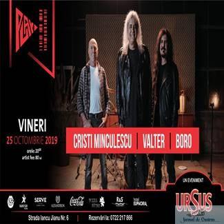 Cristi Minculescu, Valter&Boro, revin in Cafe Teatru Play pentru un super concert!