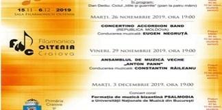 Festivalul Craiova Muzicala 2019, editia 46 / 15 noiembrie – 6 decembrie