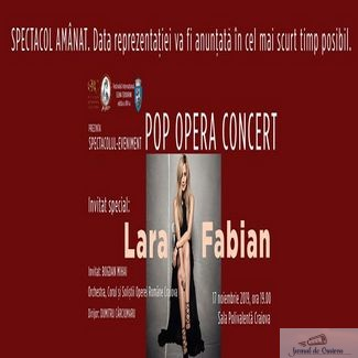 Lara Fabian si-a anulat concertul de la Craiova ! Cat costa anularea acestui spectacol ?