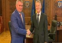 Lucian Bode, ministrul Transporturilor, Infrastructurii si Comunicatiilor s-a intalnit cu Ian Pearson, presedintele Ford Romania