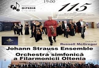 JOHANN STRAUSS ENSEMBLE canta in Craiova la GALA FILARMONICII OLTENIA