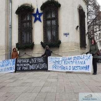 Protestul profesorilor Colegiului Stefan Odobleja continua ..