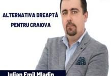 Emil Iulian Mladin se inscrie in cursa pentru Primaria Craiova din partea Partidului Alternativa Dreapta