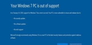 Windows 7 a ramas fara suport tehnic