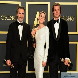 Oscar 2020. Joaquin Phoenix, cel mai bun actor, Renee Zellweger, cea mai buna actrita si Brad Pitt, cel mai bun actor in rol secundar