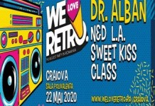 We Love Retro, cel mai mare retro party din Romania revine la Craiova. 22 mai, Sala Polivalenta.