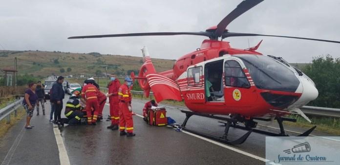 Accident grav in Dolj ! A fost nevoie de interventia elicopterului SMURD ! 1