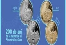 BNR : Emisiune numismatică cu tema 200 de ani de la nașterea lui Alexandru Ioan Cuza