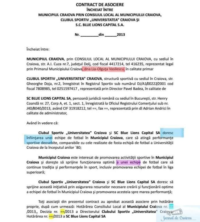 Editorial : Legea in Romania aruncata la GUNOI ! Clubul Sportiv Universitatea Craiova nu a avut si nici nu are sectie de FOTBAL ! 2
