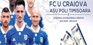 Fotbal : Universitatea Craiova a pus in vanzare biletele virtuale pentru meciul din Cupa Romaniei..