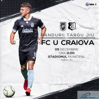 Universitatea Craiova intalneste Pandurii Targu Jiu ! Meciul este transmis pe pagina de facebook a clubului incepand cu ora 11:00 !