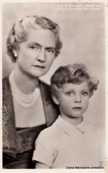 Principesa Sibylla de Saxa-Coburg-Gotha & Principele de Coroana al Suediei. Fotografie colectia Diana Mandache