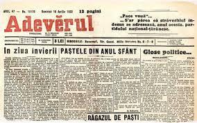 Adeverul, ediţia de Paşte din anul 1933 2