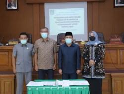 Rapat Paripurna Pengesahan Peraturan Daerah (Perda) APBD Kota Payakumbuh Tahun 2020