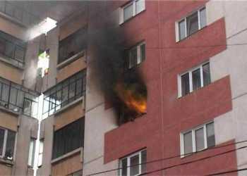 incendiu apartament
