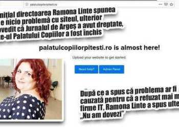 Pagina web a Palatului Copiilor Piteşti a fost închisă, după ce Jurnalul de Argeş a scris despre textele pornografice de pe site 11