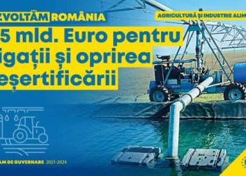 Programul de Guvernare al PNL: 6,5 miliarde de euro pentru irigații și oprirea deșertificărilor! 10
