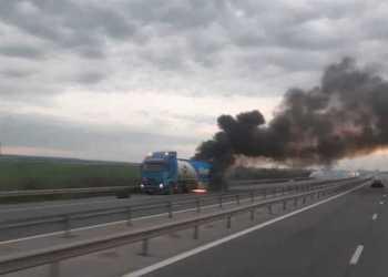 Cisternă în flăcări pe autostrada București - Pitești 4