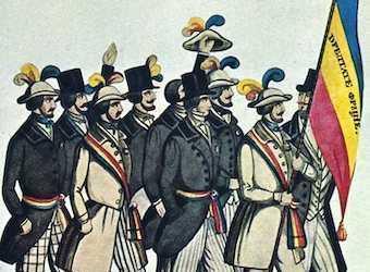 Steagul Tricolor la 1848