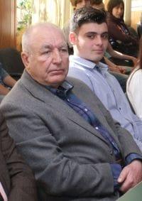 Fermierul Mihai Petcu și Nicușor Ilie