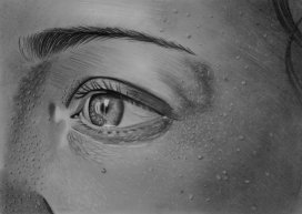 Eye study, 2014 Pencil on paper 20x29 cm