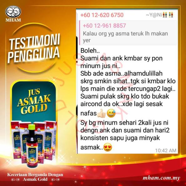 Testimoni Jus Asmak Gold 5