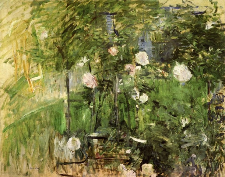 A Corner of the Rose Garden by Berthe Morisot