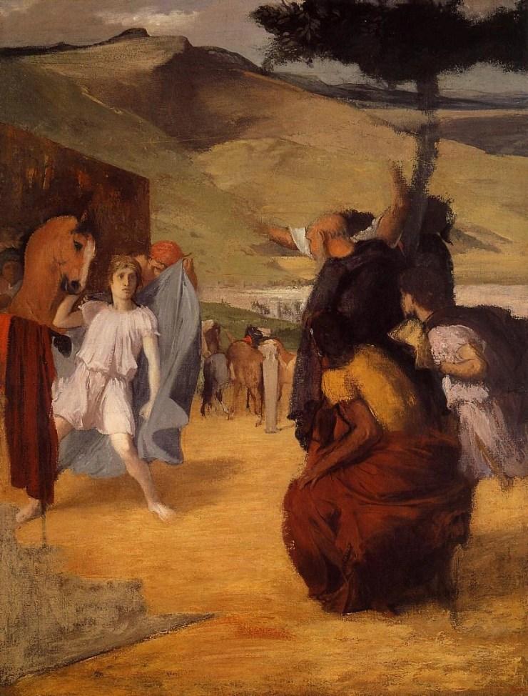 Alexander and Bucephalus by Edgar Degas