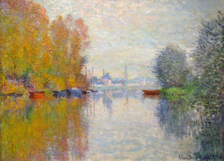 Autumn on the Seine at Argenteuil by Claude Monet
