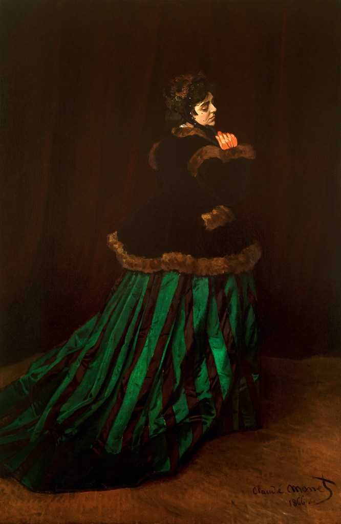 Camille, also known as The Woman in the Green Dress by Claude Monet