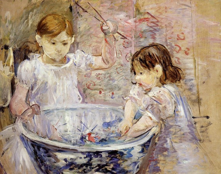Children At the Basin 1886 by Berthe Morisot