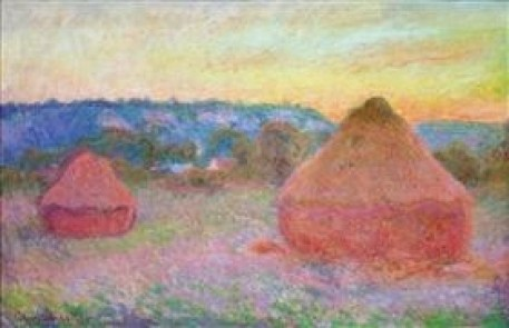 Grainstacks at the End of the Day, Autumn by Claude Monet