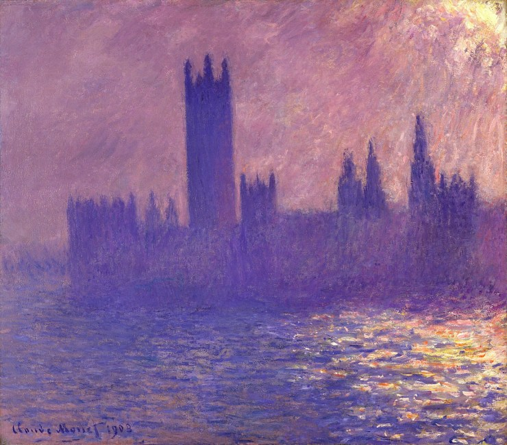 Houses of Parliament, Sunlight Effect 1901 by Claude Monet