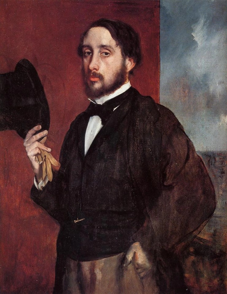 Self-Portrait Saluting 1866 by Edgar Degas
