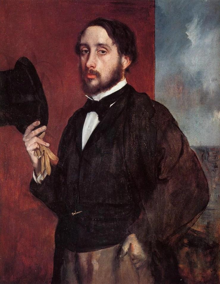 Self-Portrait Saluting 1866 by Edgar Degas