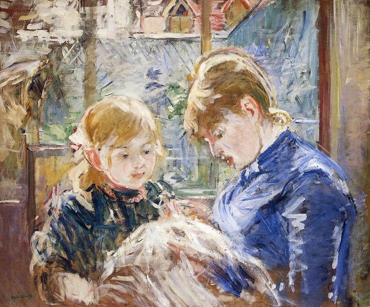 The Cradle 1872 by Berthe Morisot