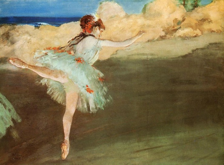 The Star Dancer on Pointe by Edgar Degas