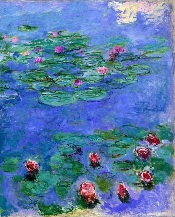 Water Lilies Red 1919 by Claude Monet