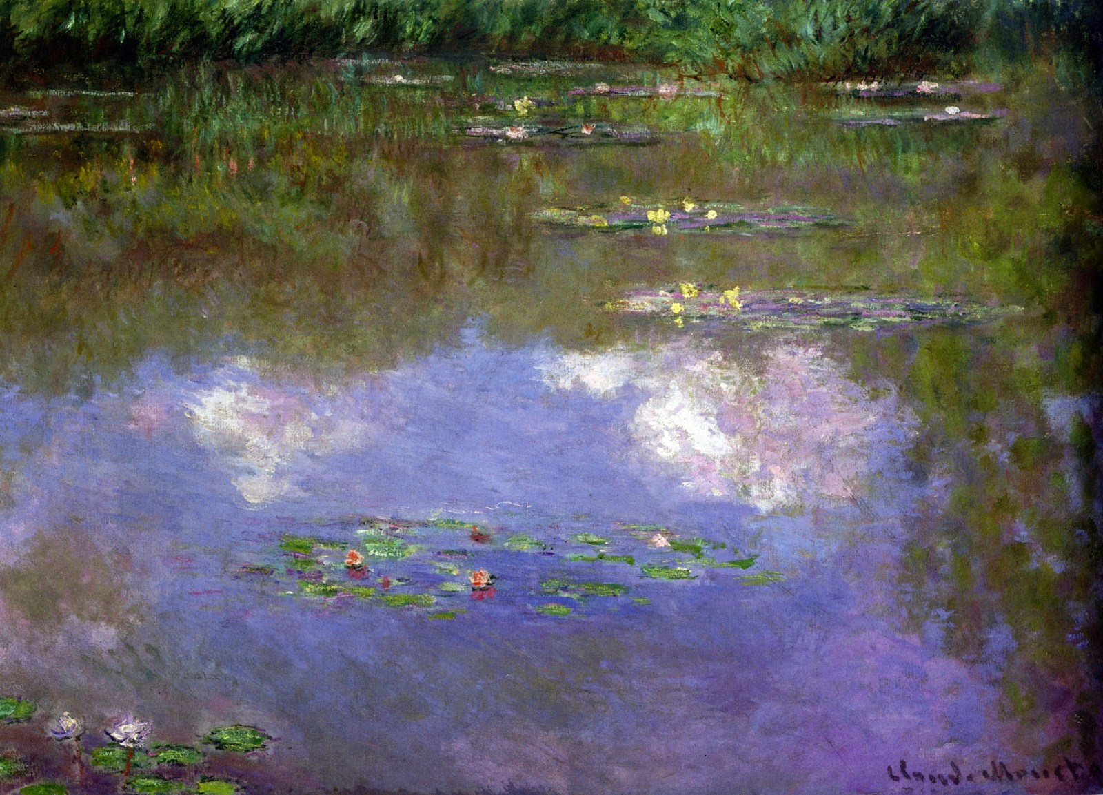 Water Lilies, the Clouds by Claude Monet
