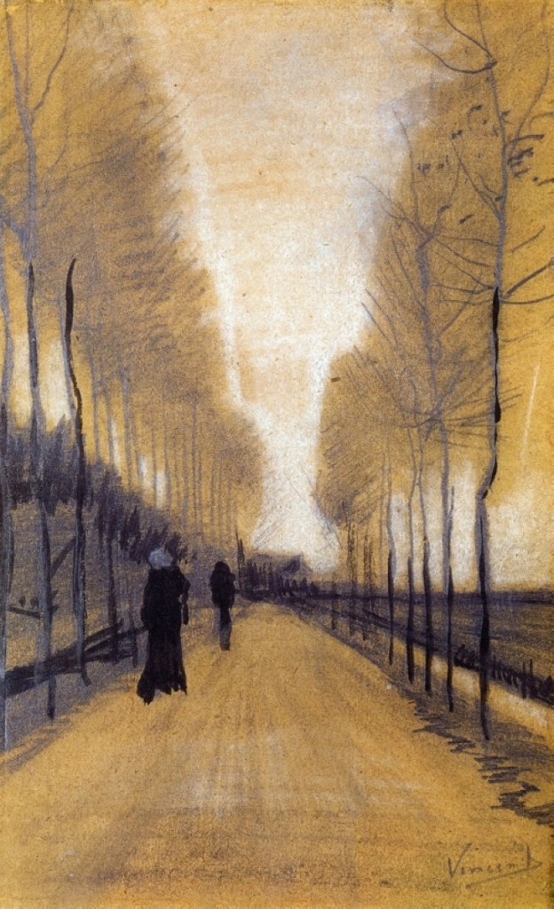 Alley Bordered by Trees by Vincent van Gogh