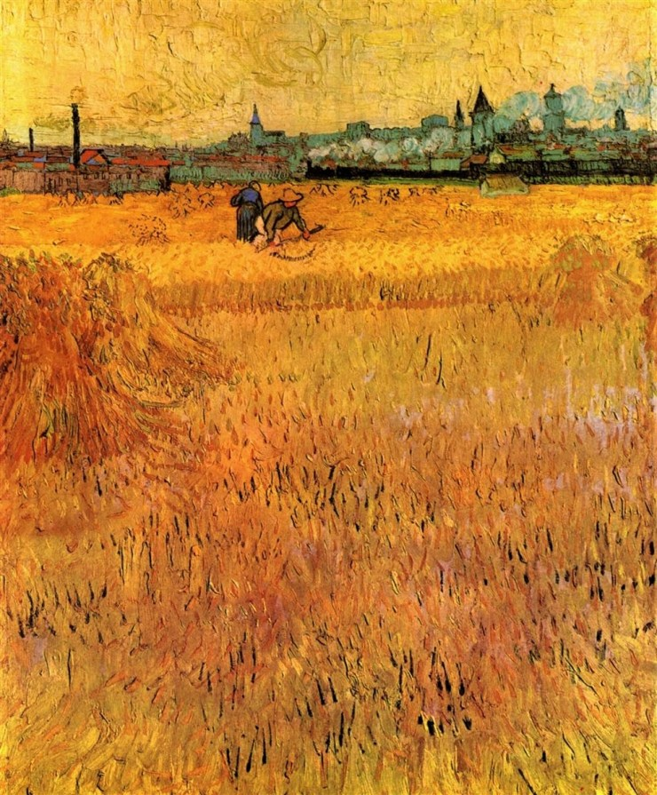 Arles View from the Wheatfields by Vincent van Gogh