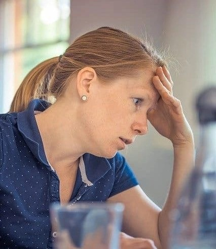 Exhausted mom experiencing homeschool burnout