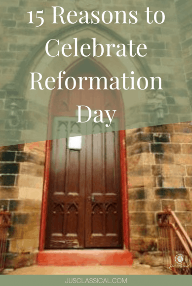 A picture of a church door to show 15 Reasons to Celebrate Reformation Day